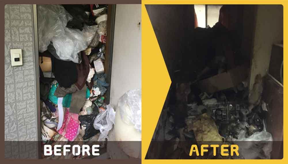 お一人暮らしのワンルームのお部屋にある不用品の処理にお困りのお客様からご依頼いただきました。