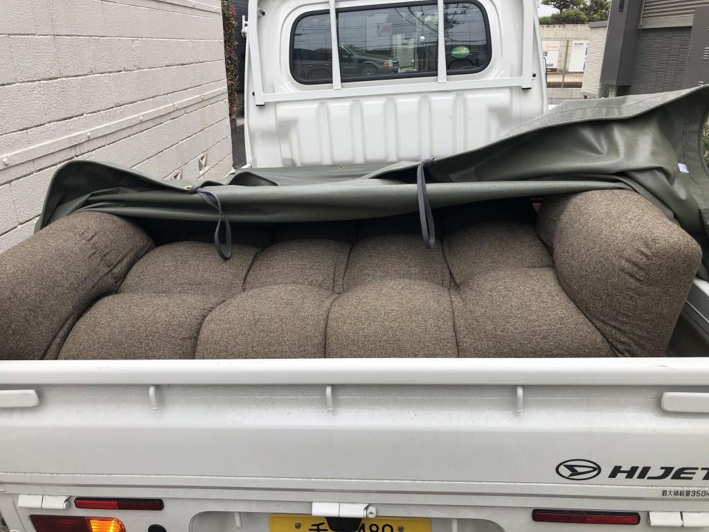 【千葉市中央区】2人掛けソファの出張不用品回収・処分ご依頼 お客様の声