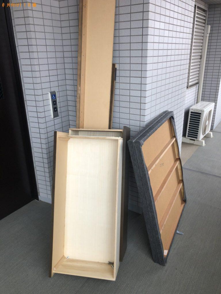 【佐倉市】遺品整理に伴い学習机とダブルベッドマットレスの回収・処分 お客様の声