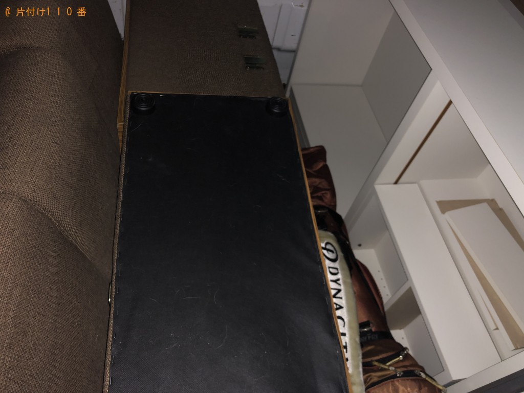 【流山市】遺品整理に伴いソファーベッドやテレビ台など家具回収 お客様の声