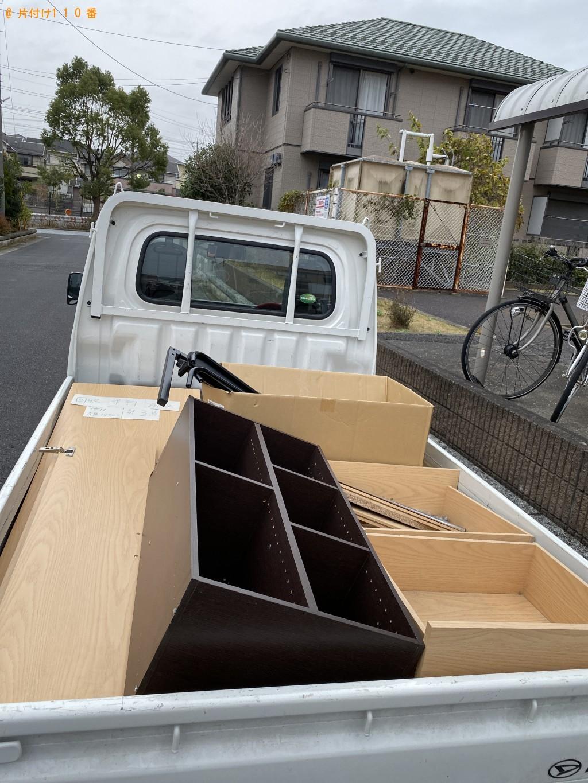 【成田市】整理タンス、収納棚、シングルベッドの回収・処分ご依頼