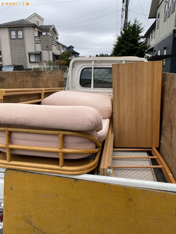 【千葉市緑区】整理タンス、ソファー、ダブルベッドの回収・処分