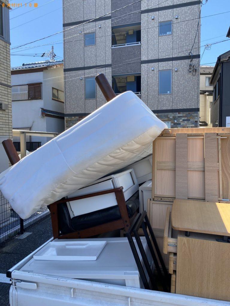【君津市】シングルベッド、4段の衣装ケースの回収・処分ご依頼