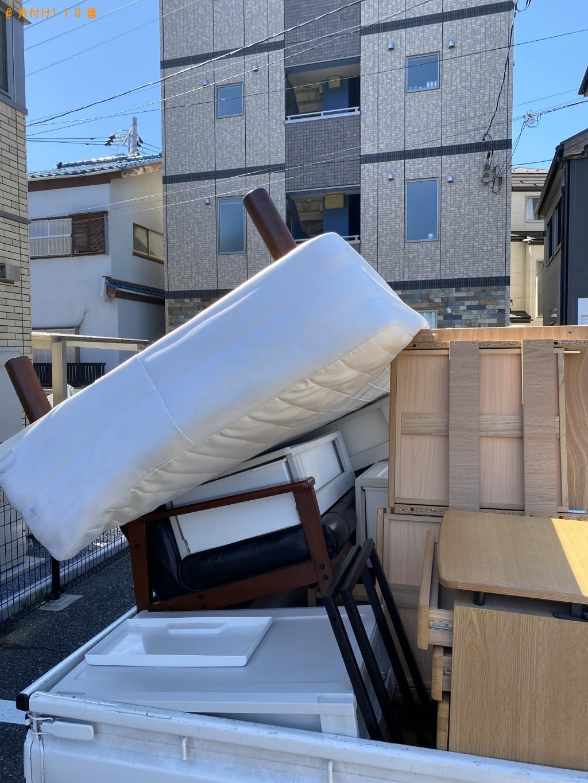 【船橋市本町】シングルベッド、4段の衣装ケースの回収・処分ご依頼