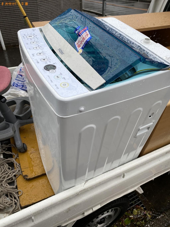 【千葉市中央区】洗濯機、ローテーブルの回収・処分ご依頼