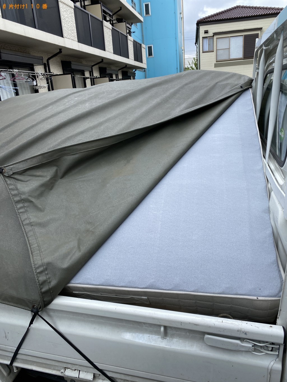【千葉市稲毛区】セミダブルベッド、ベッドマットレスの回収・処分