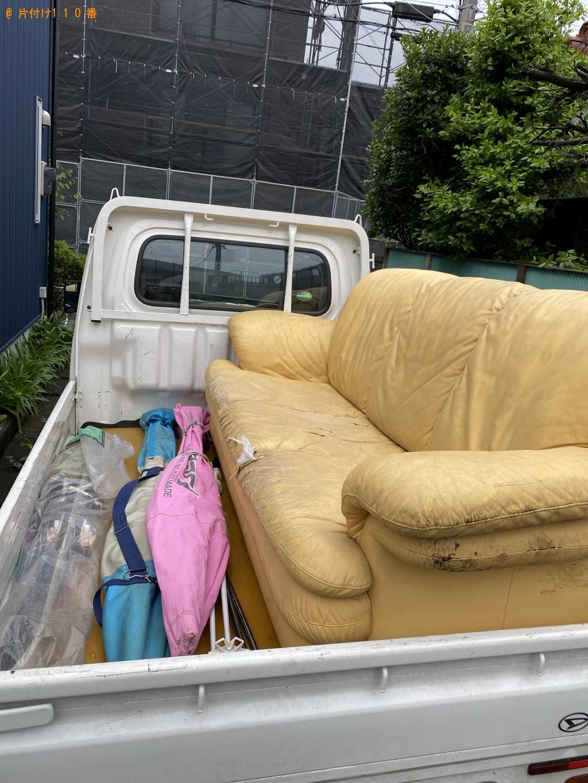【岩倉市】三人掛けソファーの回収・処分ご依頼 お客様の声