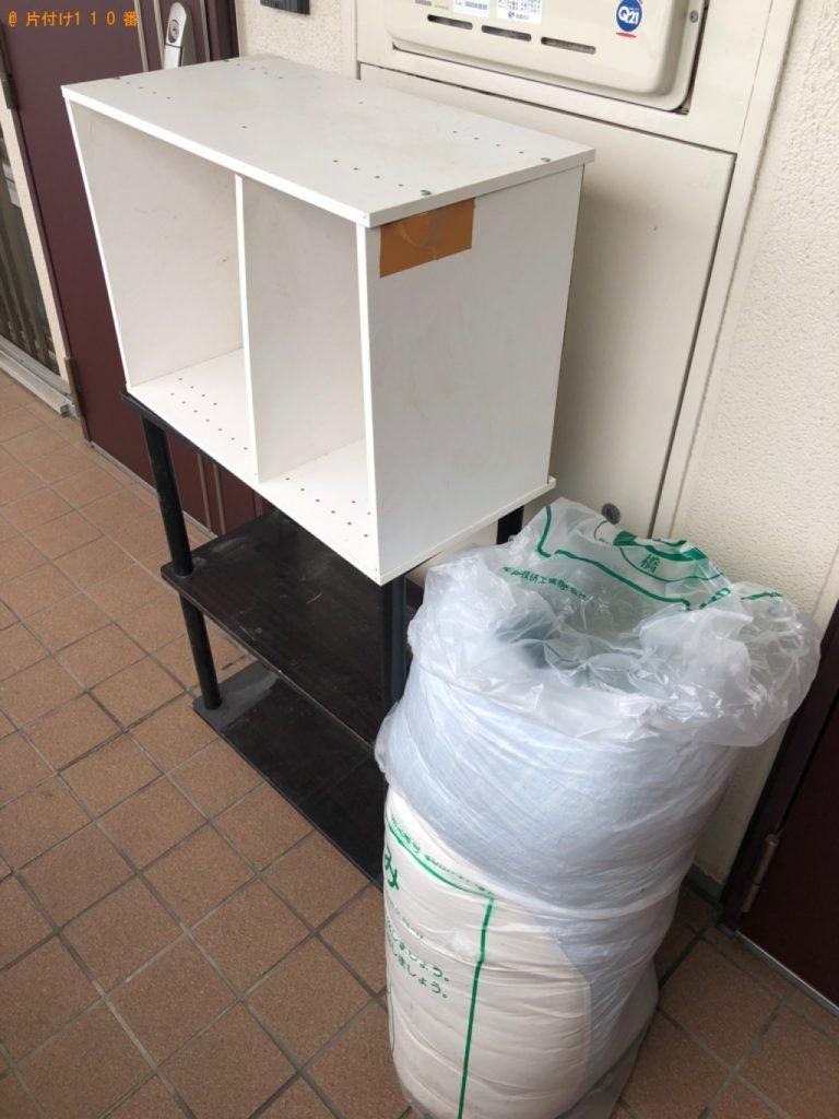 【茂原市】遺品整理に伴いカラーボックス、ガラステーブル、スタンドミラー等の回収