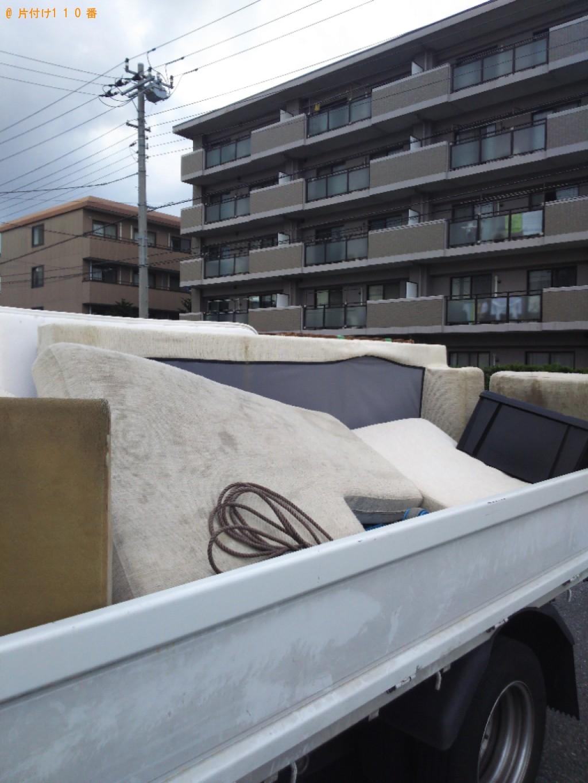 【千葉市中央区】3人掛けL字ソファーの回収・処分ご依頼