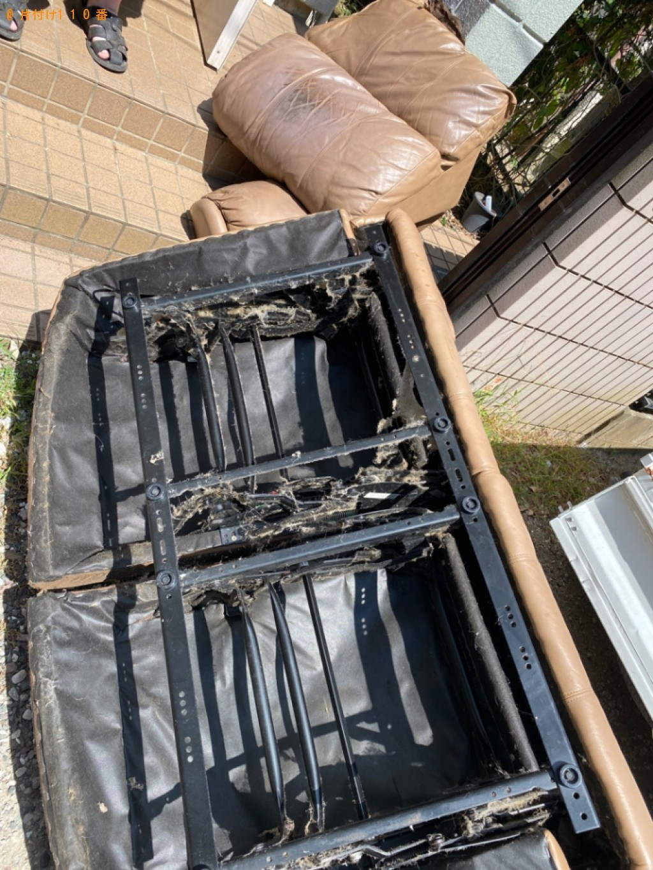 【千葉市中央区】二人掛けソファーの回収・処分ご依頼 お客様の声