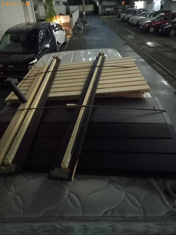 【船橋市】ダブルベッド(マットレス付)の回収・処分ご依頼