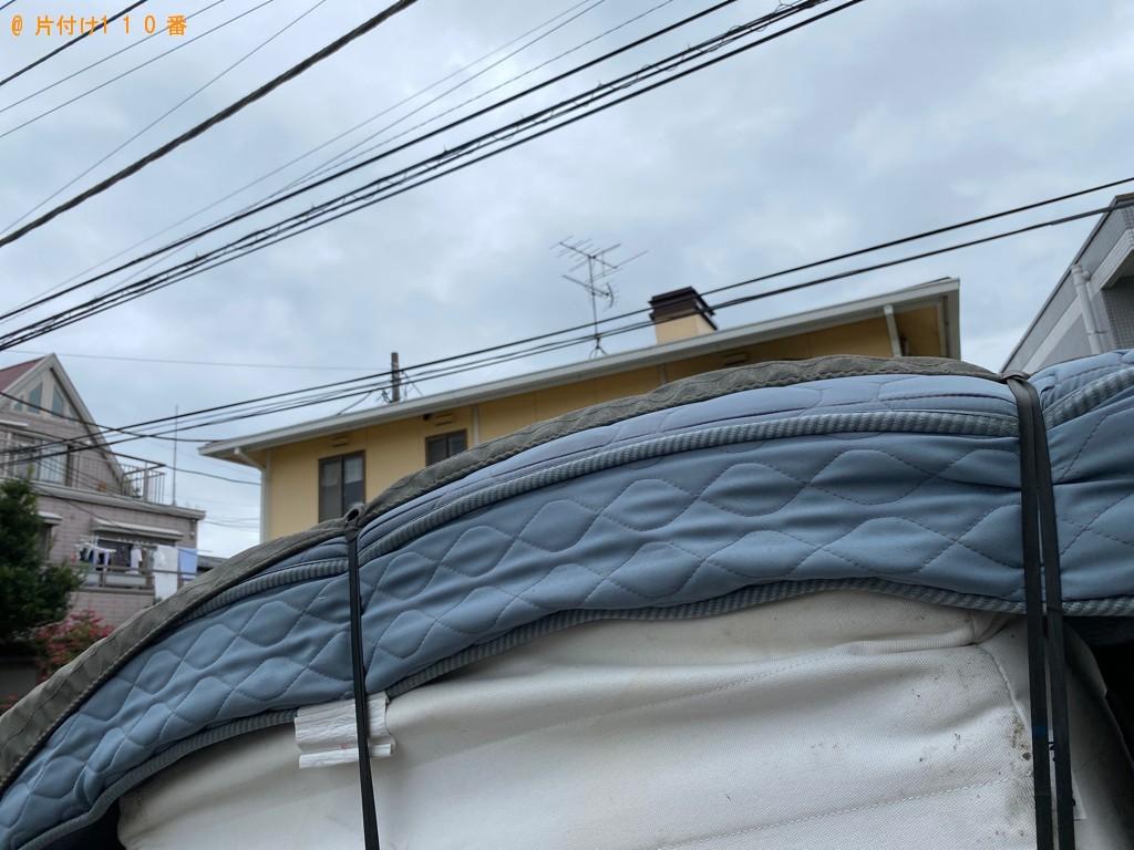 【船橋市印内町】ダブルベッド(マットレス付)の回収・処分ご依頼