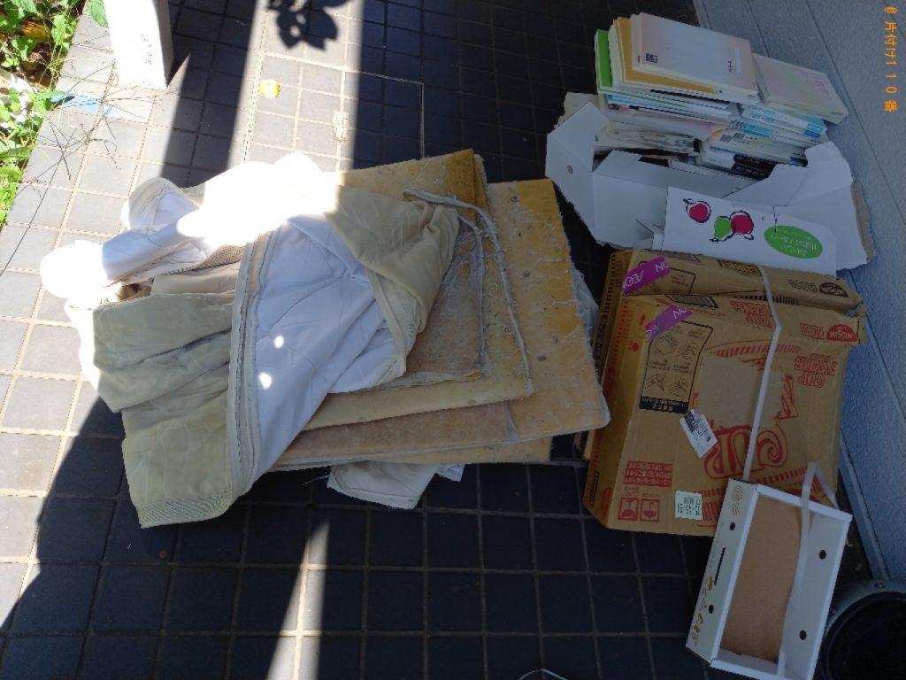 【茂原市】遺品整理で本、ダンボール、敷布団等の回収・処分ご依頼