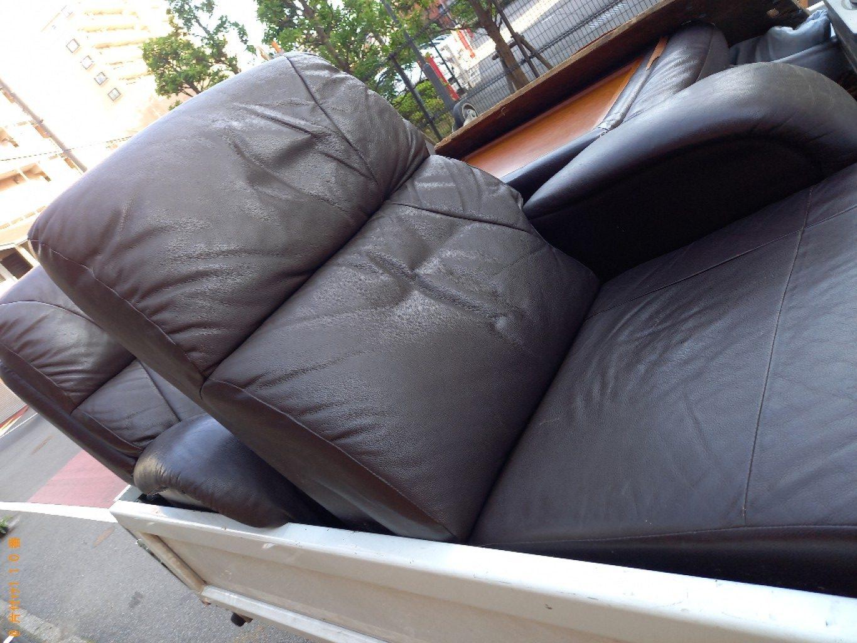 【千葉市美浜区】三人掛けソファーの回収・処分ご依頼 お客様の声