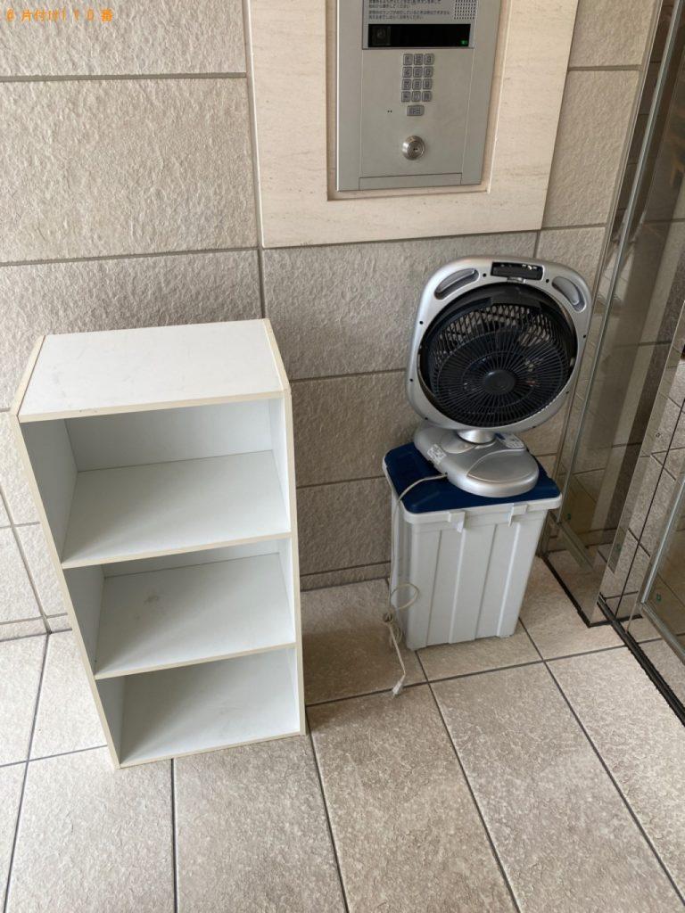 【成田市】遺品整理に伴いカラーボックス、扇風機、ゴミ箱の回収・処分ご依頼