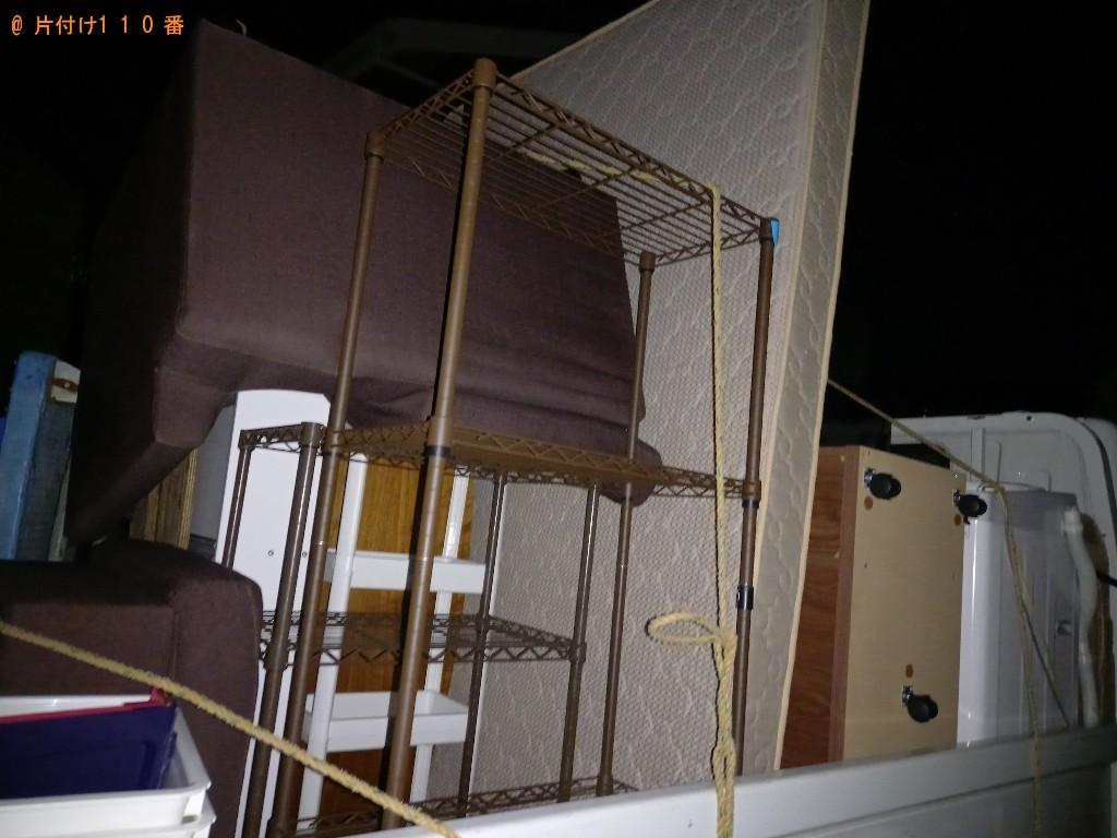 【柏市】冷蔵庫、洗濯機、スダンドミラー、本棚等の回収・処分