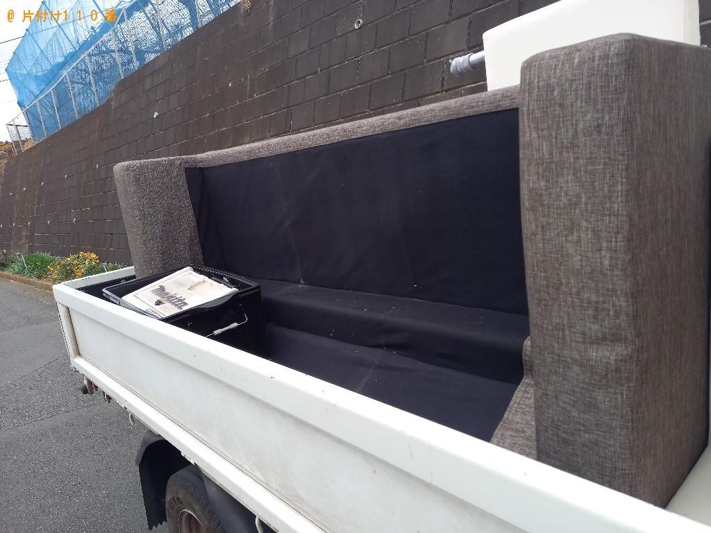 【船橋市】三人掛けソファーの回収・処分ご依頼 お客様の声