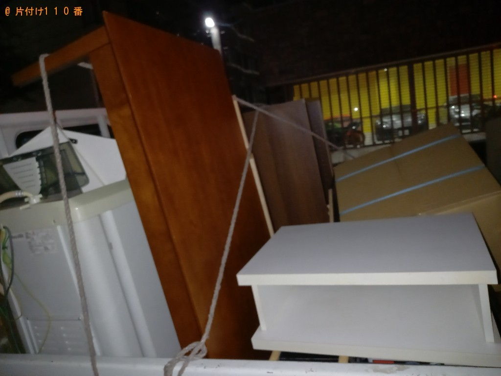 【千葉市花見川区】洗濯機、テレビ台等の回収とハウスクリーニング