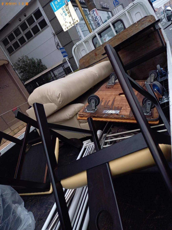 【千葉市中央区】二人用ダイニングテーブル、三人掛けソファーの回収
