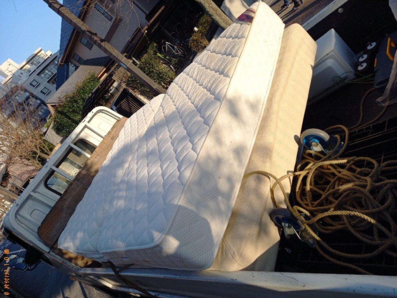 【千葉市中央区】マットレス付きセミダブルベッドの回収・処分