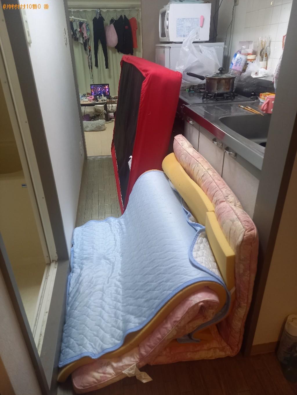【千葉市中央区】シングルベッドマットレス、布団、炊飯器等の回収