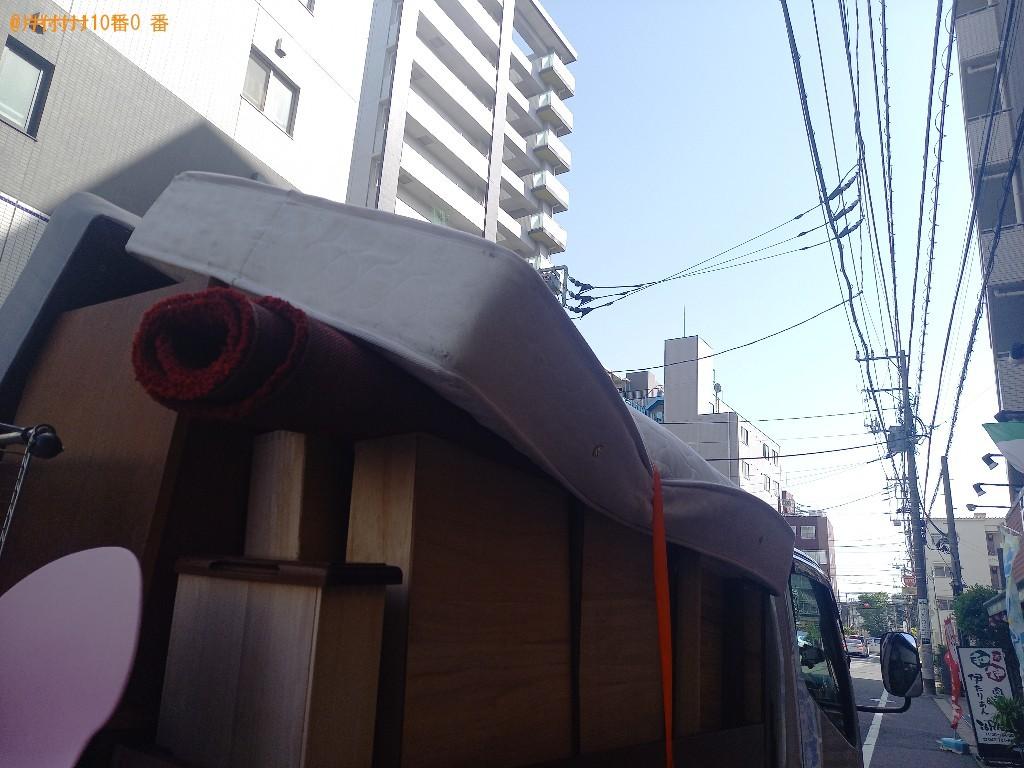 【船橋市本郷町】シングルベッドマットレス、カーペットの回収・処分